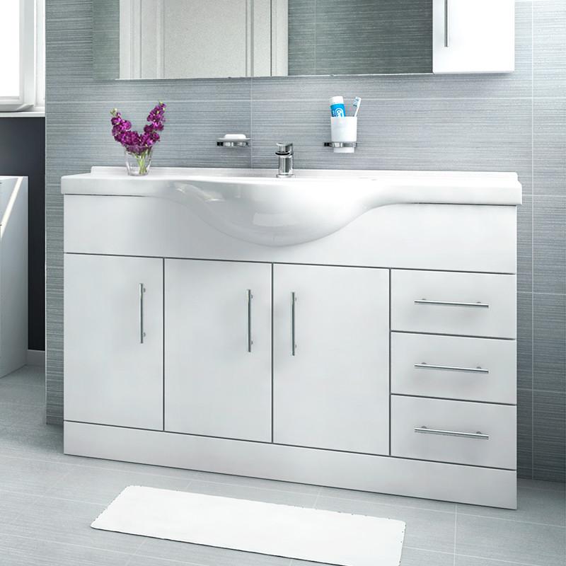 Dee 120 Vanity Unit Shower Bath Bathroom Suite