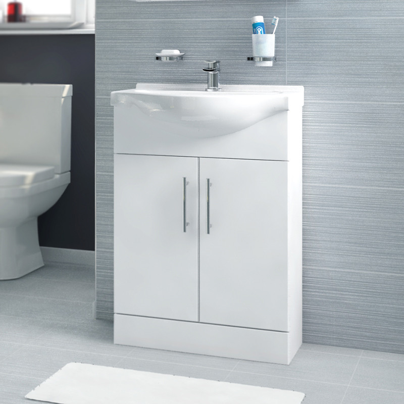 vanity basin units for bathroom. Windsor  55 White Vanity Basin Unit