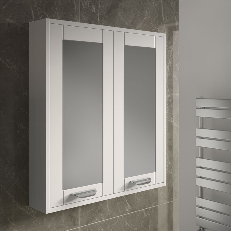 Nottingham white mirrored cabinet for White mirrored cabinet
