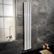 Vega 1800 x 300mm Single Flat Panel Chrome Vertical Radiator
