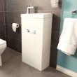 Aspen™ Compact White 410 Floor Mounted Vanity Unit