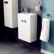 Aspen™ Compact White 410 Wall Mounted Vanity Unit