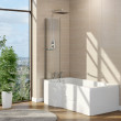 Harvard P Shape 1675 x 850 x 750 Walk In Shower Bath