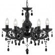 Marie Therese Black Acrylic Chandelier