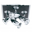 Comet Matt Black Chrome Square Spotlight