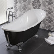 Lunar Black 1620 x 730 Luxury Slipper Bath