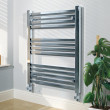 Beta Heat Electric 800 x 600mm Square Chrome Heated Towel Rail