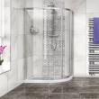 Aqualine™ 4mm 1200 x 900 Right Hand Offset Sliding Door Quadrant Enclosure with Tray