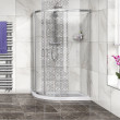 Aqualine™ 4mm 1200 x 900 Left Hand Offset Sliding Door Quadrant Enclosure with Tray
