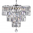 Empire 5 Light Chrome Tiered Crystal Drop Chandelier