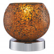 Cracked Orange Mosaic Glass Touch Table Lamp