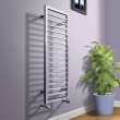 Julian 1150 x 450mm Square Chrome Heated Towel Rail