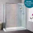 Aquafloe™ Iris 8mm 1200 x 900 Sliding Door Shower Enclosure with Ultralite Shower Tray