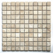 White Travertine Tumbled Wall/Floor Mosaic Tile