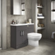 Austin Left Hand Grey Gloss Combination Unit with Santorini Back to Wall Toilet