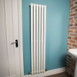 Nevada Beta Heat 1600 x 360mm Single Oval Panel White Vertical Radiator