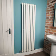 Nevada Beta Heat 1600 x 480mm Single Oval Panel White Vertical Radiator