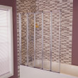 Straight Top 5 Fold Bath Shower Screen