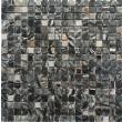 Marble Black and Metal Wall Mosaic