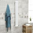 Belgravia 1500 x 198mm Tri-Column White Vertical Radiator