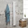 Belgravia 1800 x 198mm Tri-Column White Vertical Radiator