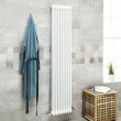 Belgravia 1800 x 396mm Tri-Column White Vertical Radiator