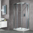 Aquafloe™ 800 x 800 Sliding Door Quadrant Enclosure with Shower Tray