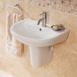 Micro™ 1 Tap Hole Basin and Semi Pedestal