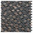 CL Dahli Black Brick Wall Mosaic