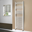 Beta Heat 1700 x 500mm Curved White Heated Towel Rail