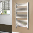 Beta Heat 1150 x 600mm Curved White Heated Towel Rail