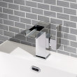 Quadra™ Waterfall Side Lever Basin Mixer Tap