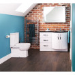 Kirkwood Bow Front Right Hand Drawer Combination with Modena Toilet