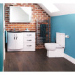 Kirkwood Bow Front Left Hand Drawer Combination with Modena Toilet
