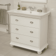 Valencia White 900mm 3 Drawer Vanity Unit