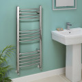 Eco Heat 1000 x 400mm Curved Chrome Heated Towel Rail