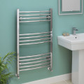Eco Heat 1000 x 600mm Curved Chrome Heated Towel Rail