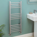 Eco Heat 1000 x 400mm Straight Chrome Heated Towel Rail