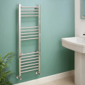 Eco Heat 1200 x 400mm Straight Chrome Heated Towel Rail
