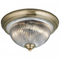 American Diner Antique Brass Ceiling Light