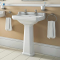 Park Royal 560mm Two Tap Hole Basin & Pedestal