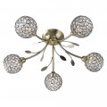 Bellis II 5 Arm Antique Brass Ceiling Light