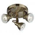 Focus Industrial Antique Brass Ceiling Spotlight