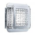 Quadrant Chrome 12 LED Square Wall Light With Glass Beads