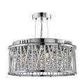 Elise Crystal Button Drop Chrome Round Ceiling Light