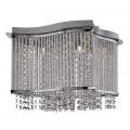 Elise Crystal Button Drop Chrome Ceiling Light