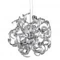 Sparkles Chrome Acrylic Ribbon Pendant Ceiling Light