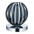 Chrome Touch Table Lamp With Smokey Acrylic & Frosted Glass