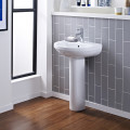 Albury 555mm One Tap Hole Basin and Pedestal