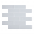 Polar Glass Medium Brick Wall Mosaic
